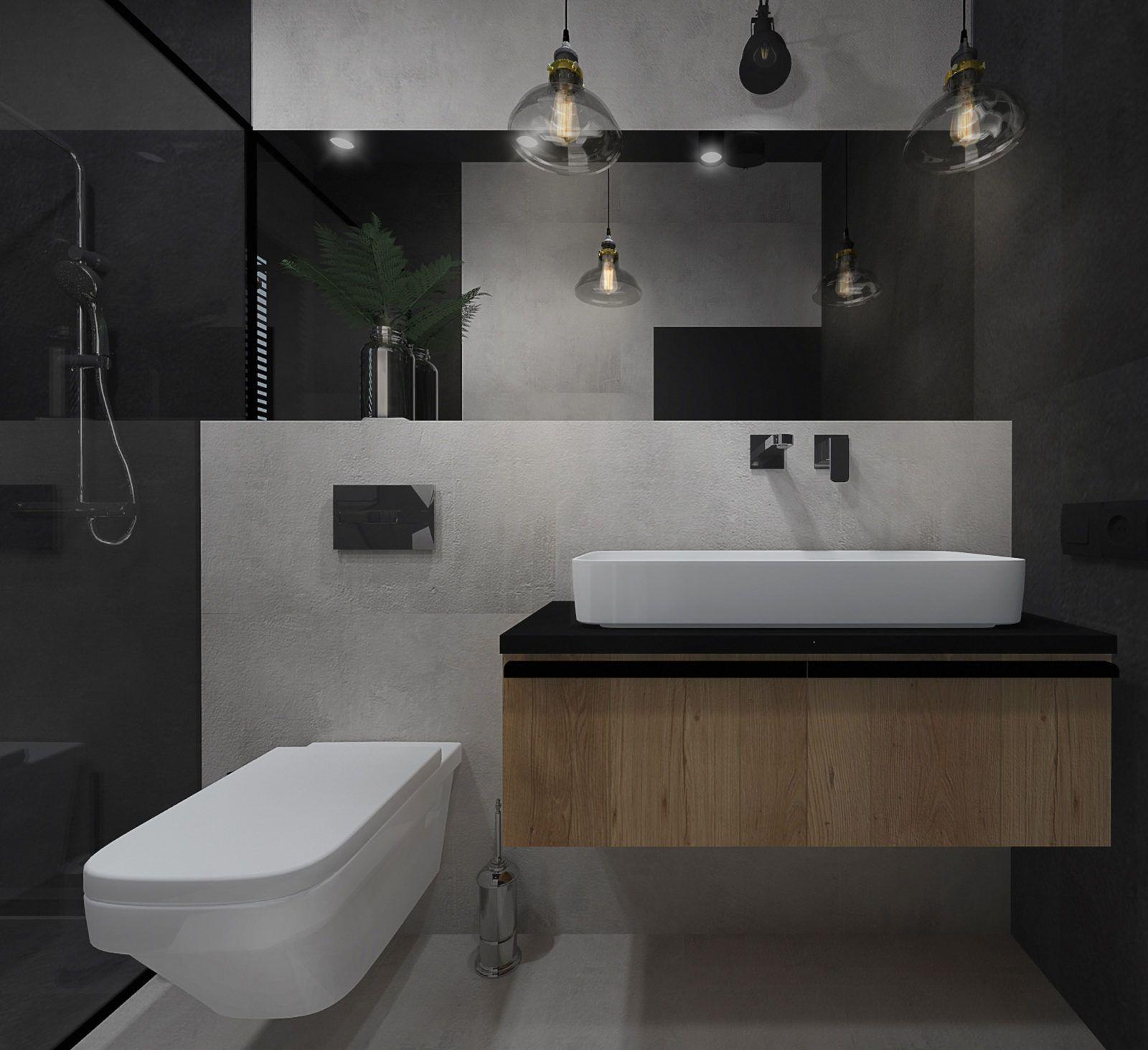 łazienka Na Parterze W Stylu Modern Loft Aranżacja Wnętrz