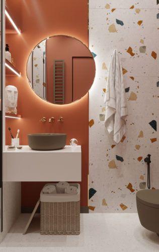 Mała kolorowa łazienka -inspiracje łazienki