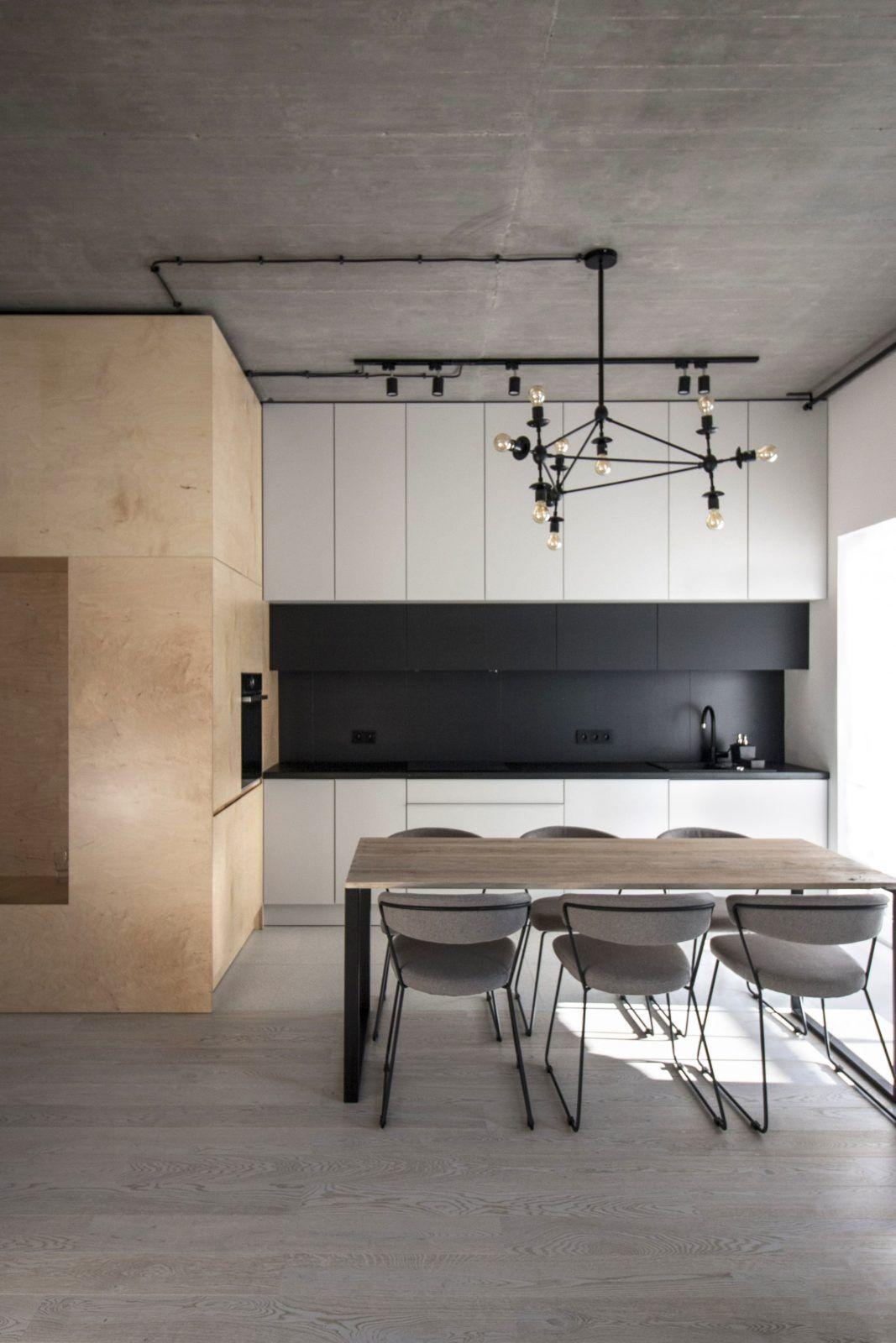 Minimalistyczny loft - projekt wnętrz