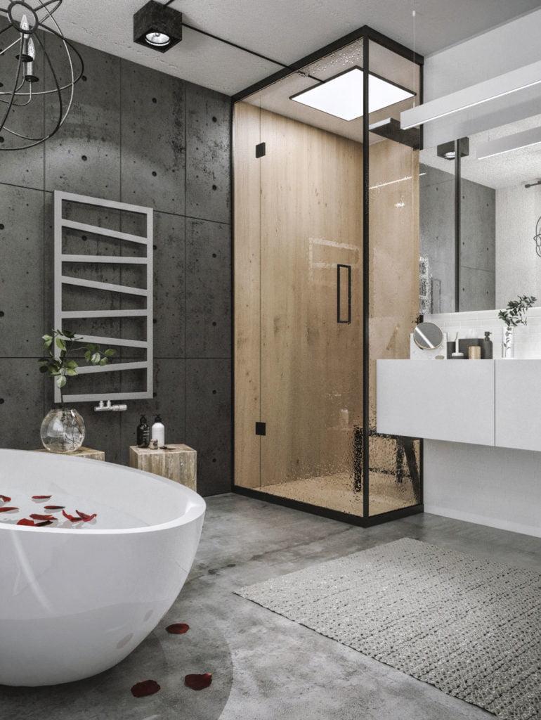 Pomysł na dużą łazienkę