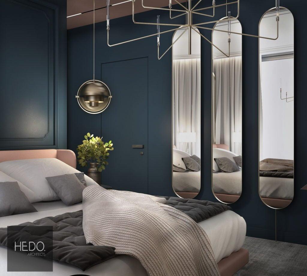 duża elegancka sypialnia klasyczna