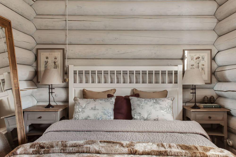 sypialnia w domu z balii