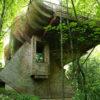 Dom na skarpie w koronie drzew