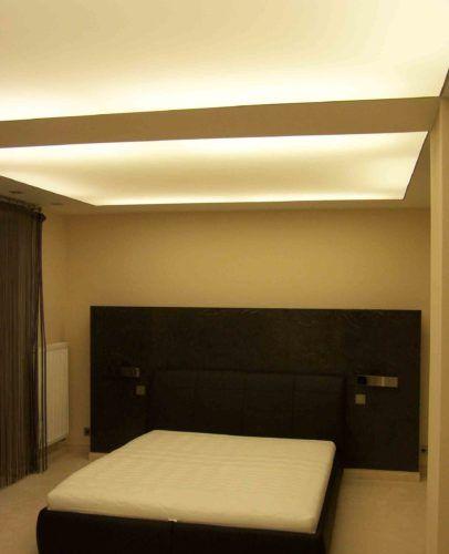 sufit napinany podświetlany