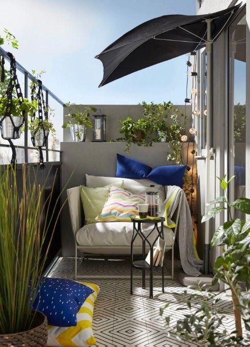 jak urządzić mały balkon